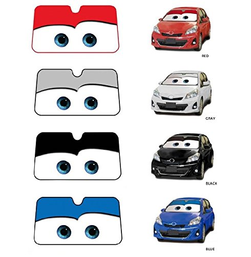 IDS Home Cartoon Eyes Front Auto Car Windshield Sun Shade Sun Visor Car Sun Shade Keep Vehicle Accessories - Black