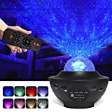 Texbee Star Projector Light with Bluetooth Speaker, Ocean Wave Star Night Light Projector for Kids Bedroom/Gam Room/Home Party, Remote Control/DC Powered by USB
