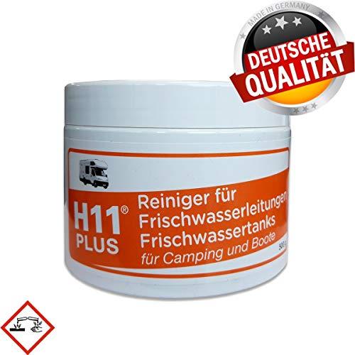 Frischwasser-Tank-Reiniger H11 Plus 500 g für die Anwendung mit Kaltwasser für Wohnmobil Wohnwagen Boot