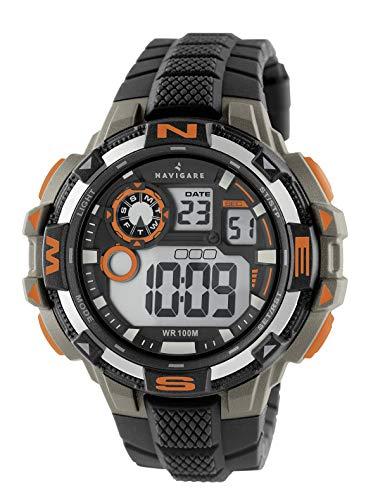 NA202 Navigare Action Digital Unterwasser-Sportuhr für Herren 50mm Schwarz
