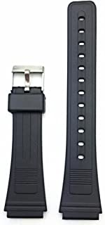 19mm Black Rubber PVC Material Watch Band | Comfortable and Durable Replacement Wrist Strap That Brings New Life to Any Watch for Men and Women