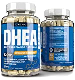 Premium DHEA 50mg 120 Capsules – Micronized Hypoallergenic, Enhanced with Bioperine Estrogen Hormone Balance for Women & Muscle Building Pills for Men, Supports Energy, Healthy Aging