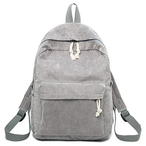 Lophome Damen-Rucksack im Preppy-Stil, weicher Stoff und Cord, Schulrucksack für Teenager-Mädchen