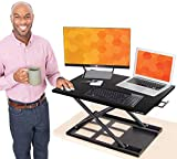 Stand Steady X-Elite Pro Standing Desk Converter | Instantly Convert Any Desk into a Stand Up Desk | Easy Lift Height Adjustable Standing Desk | No Assembly Required (28 x 20 / Black)