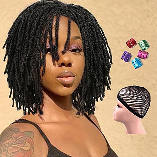 WIGNEE Short Dreadlock Wig Braided Wigs for Black Women Short Afro...