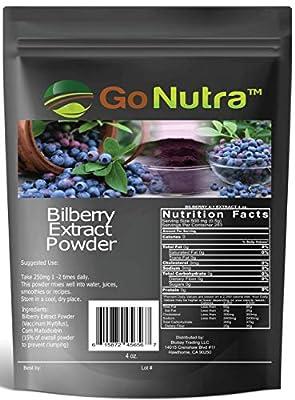 Bilberry Fruit Powder 4:1 Extract 4X Stronger Antioxident 4oz.
