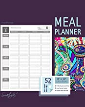 Meal Planner: Weekly Menu Planner with a Grocery List (52 spacious records in a large soft covered notebook from our Inside Out range) (Food Planners)