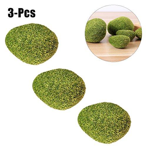 Outgeek Kunstmatige schuimstofvaas, rok, groen, kunststof, handgemaakt, 3 stuks Eén maat Moss Green S