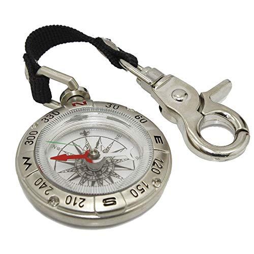 ZMYY Boussole porte-clés de navigation facile à lire pour extérieur, randonnée, camping, escalade, bateau, exploration, outils