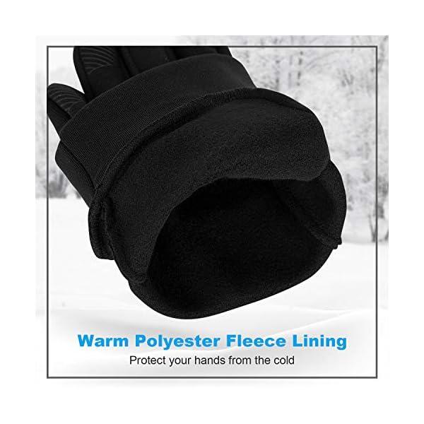 LANYI Winter Running Gloves Lightweight Touchscreen Anti-Slip Windproof Liner Gloves Cycling Work Thin Gloves Mens Women