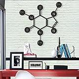 Caffeine - Metal Wall Decor - Home Office Decoration - Bedroom, Living Room Decor Sculpture (18'W x 17'H / 46x43cm)