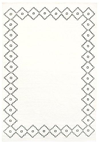 Vallila Ester–Alfombra, Color Blanco/Negro, 140x 200cm