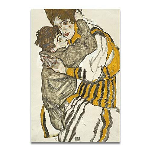 LiMengQi Wohnzimmer wandbilder Dekoration Farbe Eyeliner Zeichnung Tuch Kunst malerei Poster...
