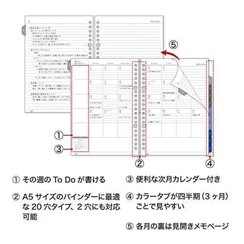 マルマンジウリスシステム手帳2021年A5マンスリーディープブラウンFD290-21-272021年1月始まり