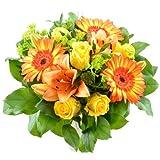 Blumenversand - Blumenstrauß Sonnenstrahl - leuchtend Gelb & Orange - Deutschlandweit versenden