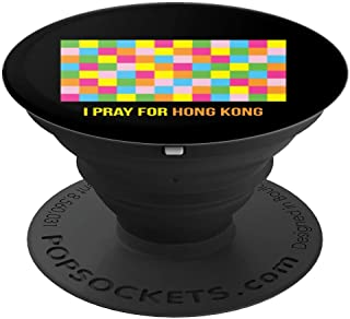 I Pray For Hong Kong Lennon Wall HK Flag for Hongkongers PopSockets Grip and Stand for Phones and Tablets