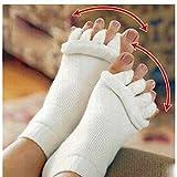 LuxBene(TM) 2個マッサージファイブつま先ソックス指セパレーター骨の親指女性ソックスのためにコレクターの痛みを軽減するソックスペディキュア足セパレーターについて