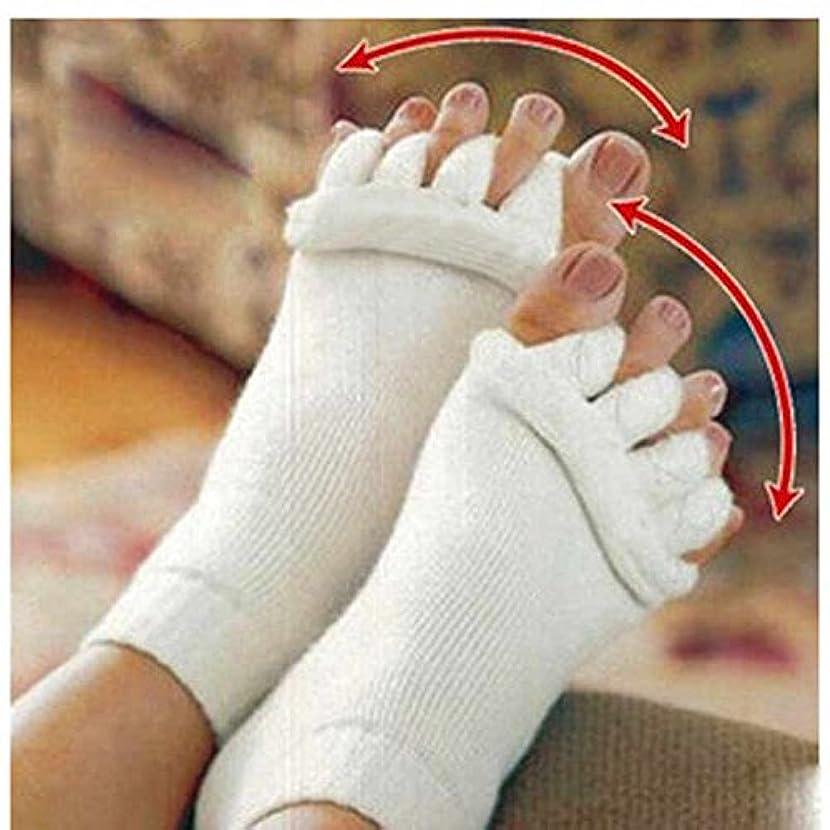 納得させる大混乱短命Lorny(TM) 2個マッサージファイブつま先ソックス指セパレーター骨の親指女性ソックスのためにコレクターの痛みを軽減するソックスペディキュア足セパレーターについて