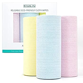 KitchLife Reusable Paper Towels  3 Rolls of 150 Sheets 1 Year Supply   REAL Washable Bulk Paper Towels with Gift Box Ultra Durable Unpaper Towels Eco Friendly Gifts