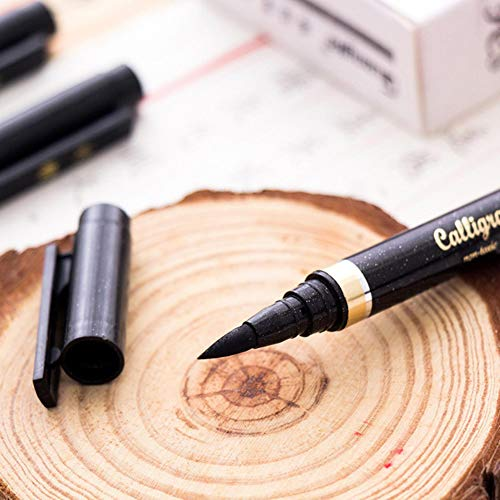 4 sizes Calligraphy Pen For Signature Chinese Words Learning Material Brush Art Marker Pens Stationery School Supplies,Large