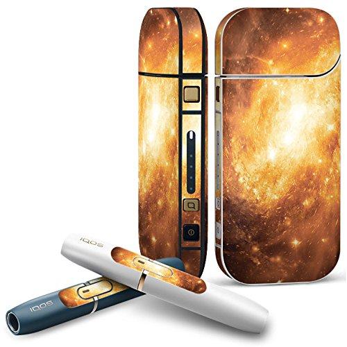 IQOS 2.4 plus 専用スキンシール COMPLETE アイコス 全面セット サイド ボタン デコ 写真・風景 宇宙 銀河 006435