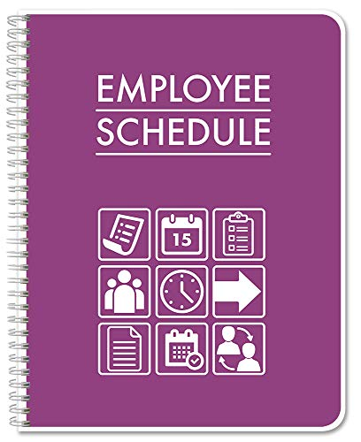"BookFactory Business Employee Schedule Logbook/Employee Schedule Tracking Notebook/Log Book/Journal - 100 Pages, 8.5"" x 11""(LOG-120-7CW-PP-(EmployeeSchedule)-BX)"