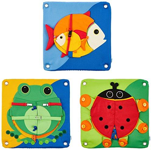 HABA 53090 Fiddling Kissen Set, Feinmotorik Entwicklung, für Kinder