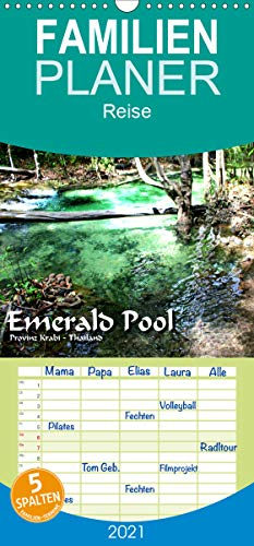 Emerald Pool, Provinz Krabi - Thailand - Familienplaner hoch (Wandkalender 2021, 21 cm x 45 cm, hoch)
