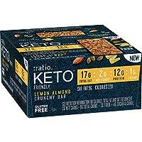 12-Count :ratio KETO friendly Lemon Almond Crunchy Bar