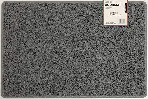 Nicoman Paillasson Anti-saleté très résistant (Utilisation en intérieur ou en extérieur abrité), paillasson Spaghetti Gris Anthracite Taille S (60 x 40 cm), Gris, Small (60x40cm)
