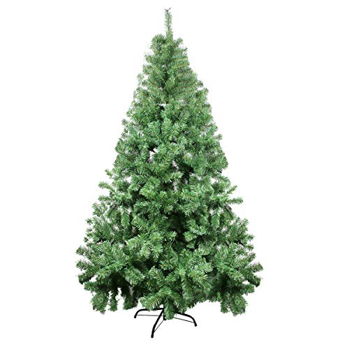 fake christmas trees 7ft Christmas Tree - Xmas Tree - Artificial Christmas Pine Trees - 1000 Branch Tips for Lush Looking - 3 Separable Sections - Tree Stand - Holiday Decorations - Christmas Decor