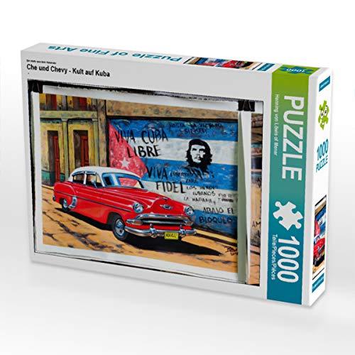 CALVENDO Puzzle Che und Chevy - Kult auf Kuba 1000 Teile Lege-Größe 64 x 48 cm Foto-Puzzle Bild von Henning von Loewis of Menar