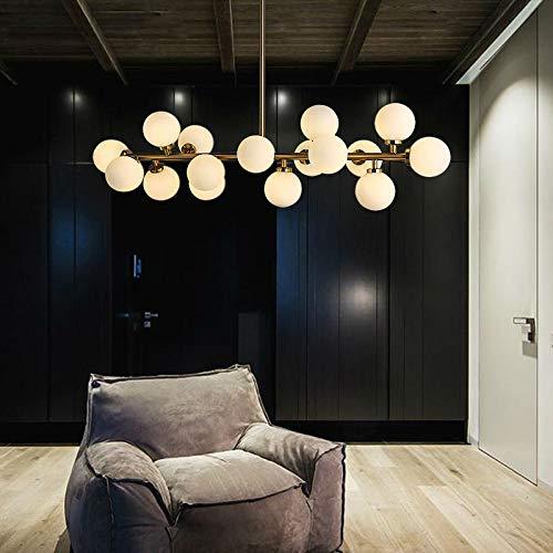 WHEEJE Rama de Lujo Moderno de Las Bolas de Cristal de la lámpara Pendiente de la luz de la lámpara LED Magic Bean Accesorio de iluminación de la Sala de Estar decoración del hogar