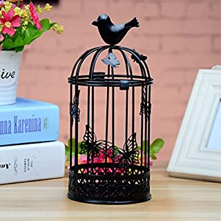 Candlesticks Decorate - Wholesale Decor Iron Candle Holders Bird Cages Candlesticks Decorative Festival P5 - Cocktail Holder Candle Holder Birdcage Vase Holder Blossom Carved Candle De Glass