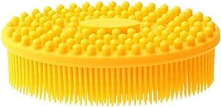 Shampoo Brush,Scalp Massager Shampoo Brush,Baby Bath Brushes,for Senstive Scalp and Kids,Shampoo Scalp Brush.(Multicolor,Silicone Teeth) Hair Scalp Massager,Yellow
