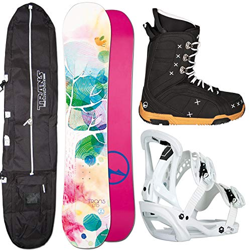 Unbekannt Damen Snowboard Set Trans LTD 152 cm + Sonic BINDUNG GR. M + Boots + Bag