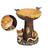 Realistic Resin Bird Bath, Cute Mushroom-shaped Feeder, Outdoor Garden Landscape Sculpture, Unique Home Decor Creative Art Crafts.