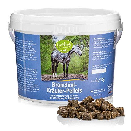 tierlieb Sanct Bernhard Bronchial Kräuter Pellets für Pferde, zur Unterstützung der Abwehrkräfte, Inhalt 1,4 kg