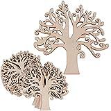 (12.4 * 12.4cm) 20 pz Albero Decorativi Pendenti Legno Abbellimenti Ornamenti da Appendere Decorazioni Fai da Te Matrimonio Nozze Natale