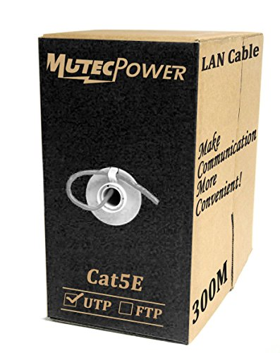 MutecPower 300 m Cable de Red ethernet Cat5E - UTP - CCA - Gris - 300 Metros