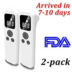 Infrared Forehead Thermometer, Non Contact Medical Thermometer, Fever Alarm, Memory Function, Ideal for Baby, Infants, Adults, School Office Use- FDA Certificate & Fast Delivery