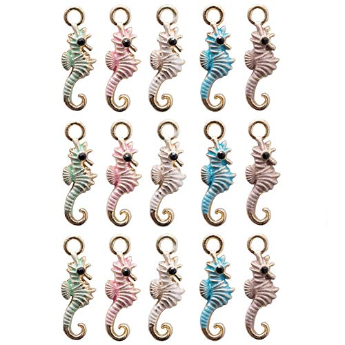 Seventopia Unicorn Charms for Crafts Keychain Jewelry Making 20 CT Unicorn Party Favors