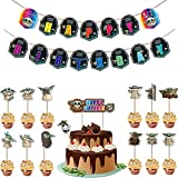 Miotlsy Star Wars Decoración de Cumpleaños Set Cumpleaños Decoracion de Star Wars Pancarta de Feliz Cumpleaños Sombrero de Copa Para Tarta de Star Wars con Tema BabyYoda para Decoraciones de Fiesta