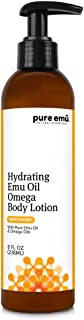 PURE EMU Hydrating Emu Oil Omega Body Lotion: Luxurious Daily Cream For Dry Skin | Convenient Pump Dispenser | Nature's Greatest Moisturizer, 8 fl oz