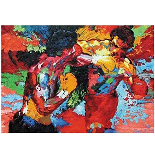HJZBJZ Rocky Balboa Vs Apollo Creed Film Wandkunst Poster Leinwand Malerei Home Decor Bilder Druck auf Leinwand -20x28 Zoll No Frame 1 PCS