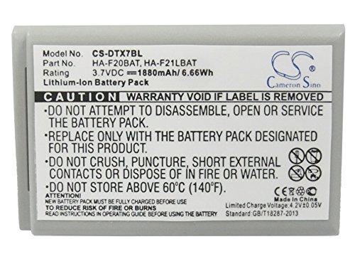 Batterie Kompatibel mit Casio DT-X7M30R Li-ion 3.7V 1880mAh - HA-F20BAT, HA-F21LBAT