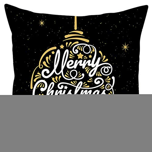 Nordic Style Merry Christmas Letters Throw Pillow Case Snowflake Animal Digital Printed Holiday New Year Party Decorative Cushion Cover - 1 Pc