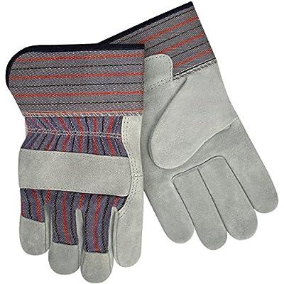 Steiner Leather Palm Work Gloves, Standard Shoulder Split Cowhide, 2-Inch Safety Cuff, Pack of 12