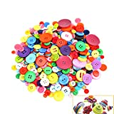 (Style a) - 700 PCS Assorted Mixed Colour Resin Buttons 2 and 4 Holes Round Craft for Sewing DIY Crafts Children's Manual Button Painting,DIY Handmade Ornament