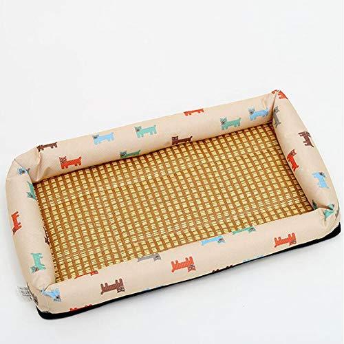 Pecute Dog Cooling Mat, Duurzaam Pet Cool Mat, IJzige stromat, non-slip bodem, Machine Washable Comfort Bed, Zeer geschikt voor honden Katten in Hot Summer,A,47 * 28cm